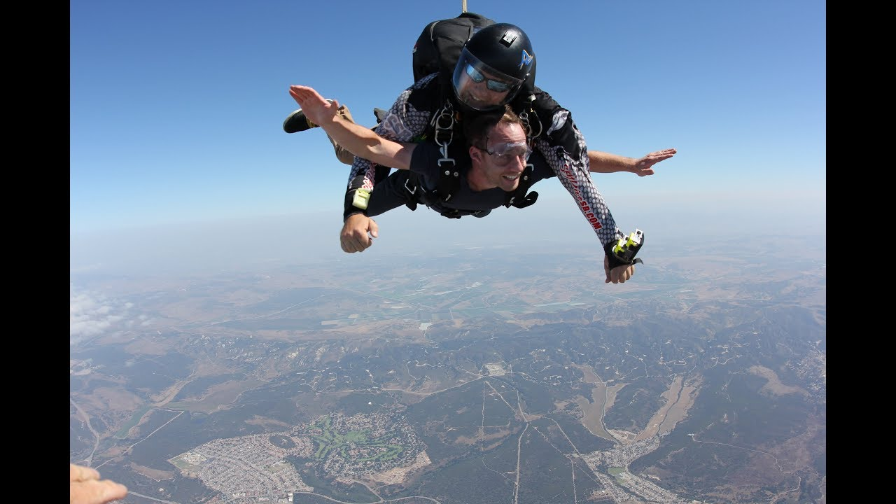I went skydiving music video