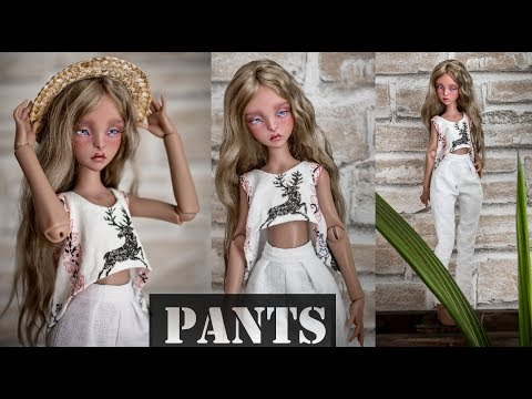 PANTS TUTORIAL for dolls #tutorial #dollclothing