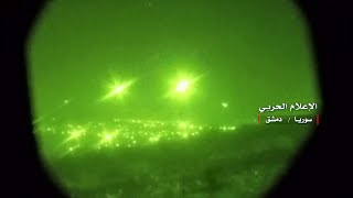 Syrian military video shows air defences trying to intercept Israeli missiles