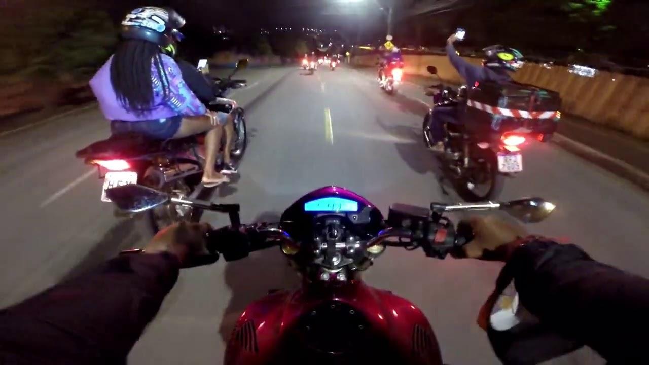 ROLE NOTURNO COM VARIAS MOTOS VEJA A S1000RR DO BOY VERONEZI CUSPINDO FOGO😱