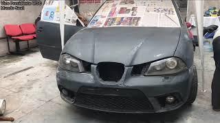 Pintando el Auto de Daniel socio zona sur MUNDO SEAT
