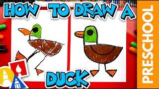 How To Draw A Dขck - Preschool