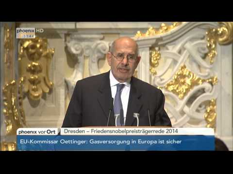 Friedensnobelpreisträgerrede von Mohammed El Baradei am 18.03.2014