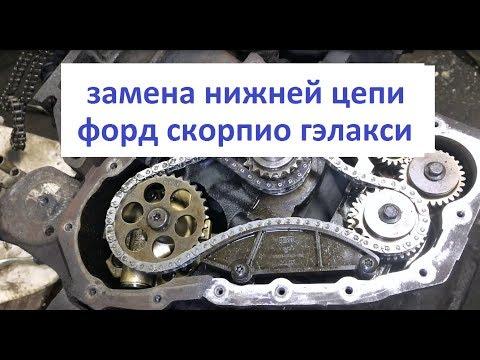 Фото к видео: Замена нижней цепи форд скорпио гэлакси | ford scorpio galaxy 2.3