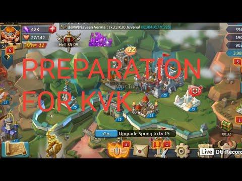 Lords Mobile Preparation For Kvk