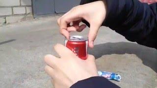 Что будет если бросить Mentos в CoCa Cola?