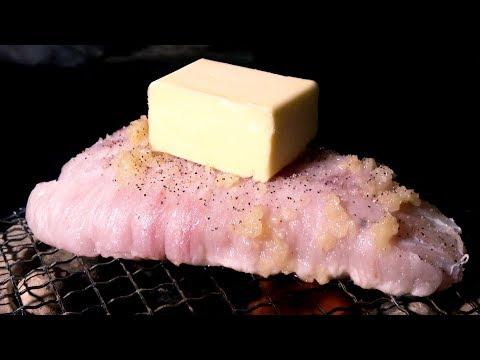 [飯テロ]20kgオーバー巨大魚の肉塊を七輪で炙る野蛮探偵団