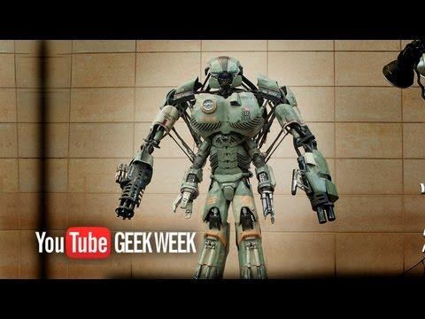 Giant Robot Mech WALKING TEST - YouTube Geek Week - Stan Winston School