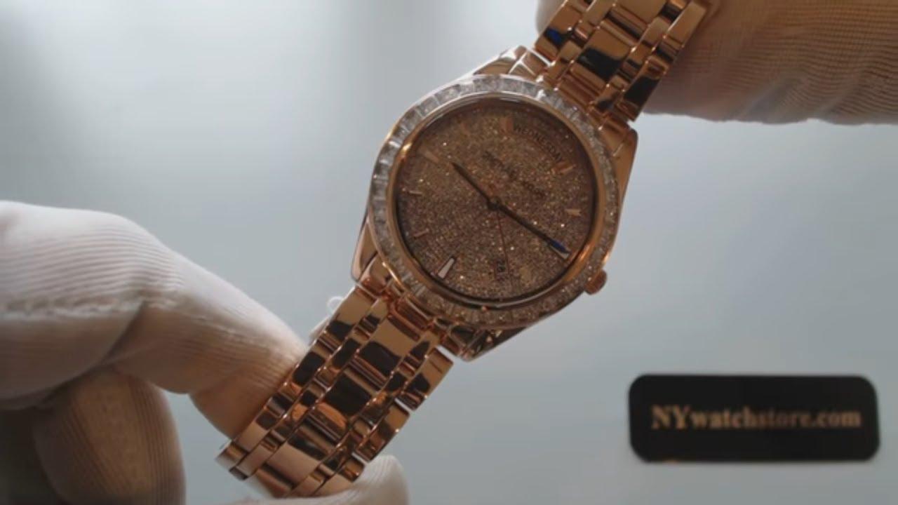 256f525d83d6 Women s Rose Gold Michael Kors Kiley Pave Crystal Watch MK6146 - YouTube