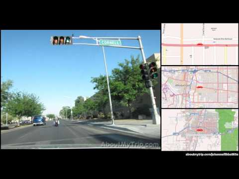 Vassar Drive Southeast (Albuquerque, New Mexico) to Oak Street Northeast (Silver Hill) via Sycamore