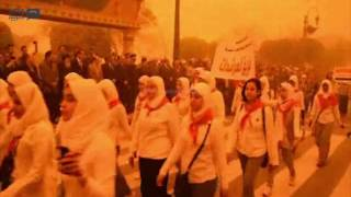 مصر العربية   محافظ المنيا يضع إكليل من الزهور على النصب التذكاري للشهداء