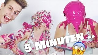 5 Minuten lang ist ALLES erlaubt .. JULIAN ÜBERTREIBT ! | BibisBeautyPalace
