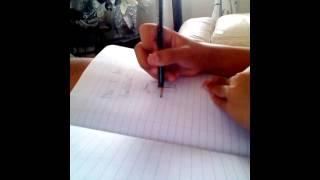 How I draw Herobrine(Minecraft)