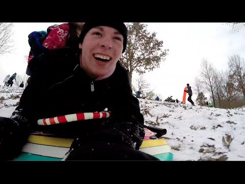 Ride the sleds at Raleigh