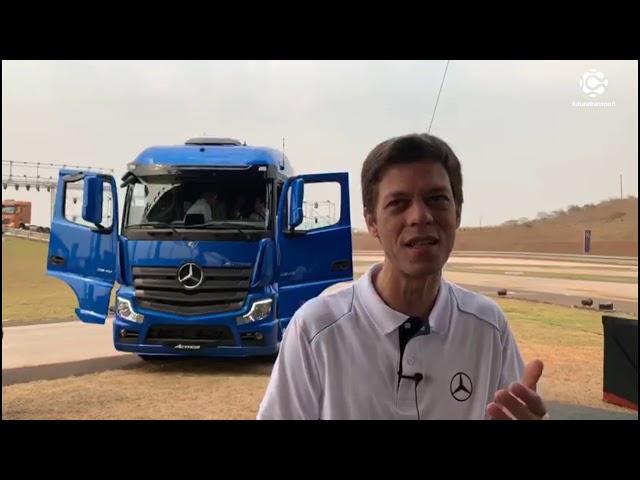 Novo Actros tem cabine desenhada para o Brasil