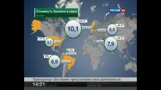 видео Стоимость Бензина В Странах Мира