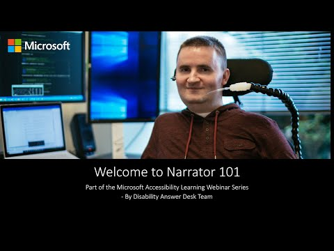 Accessibility Learning Webinar Series: Narrator 101