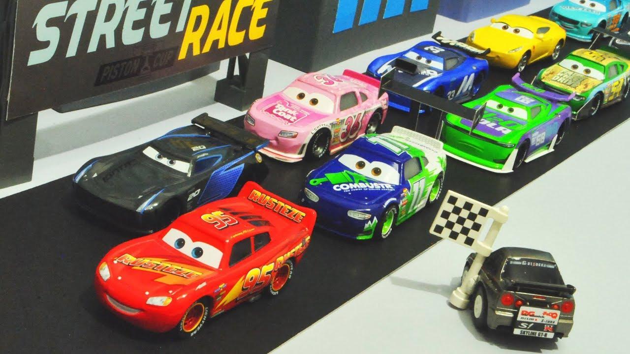 Disney Cars 3 Street Piston Cup Race Stopmotion Youtube