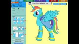 Game | Flash Game.. Create a Rainbow Dash Alicorn!! | Flash Game.. Create a Rainbow Dash Alicorn!!