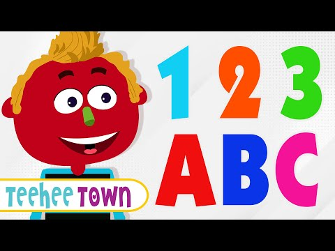 12 ABC Alphabet Songs  Colors, Shapes and Numbers Song  Teehee Town