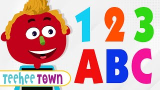 12 ABC Alphabet Songs | Colors, Shapes and Numbers Song by Teehee Town