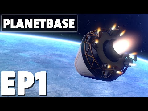 Let's Play Planetbase Episode 1 - Class F Ice Planet - Version 1.0.6