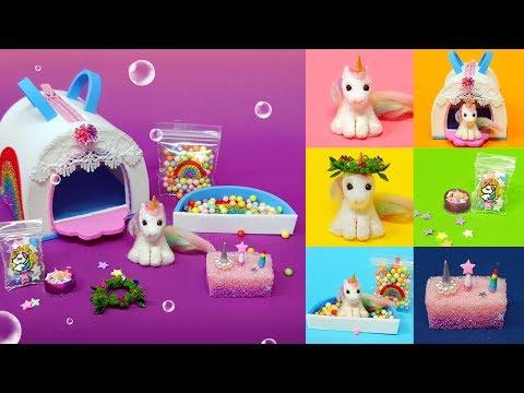 DIY Miniature Animal -  Unicorn Set ! Unicorn , Unicorn Bag ~