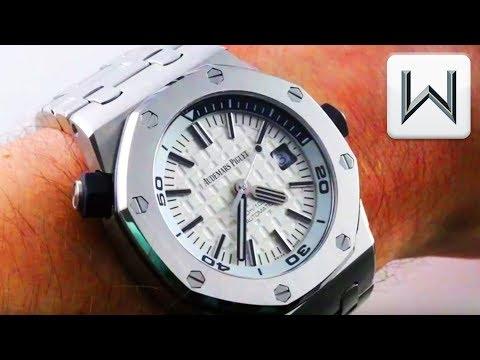 Audemars Piguet Royal Oak Offshore Diver Full Bracelet 15710ST.OO.A002CA.02 Luxury Watch Review