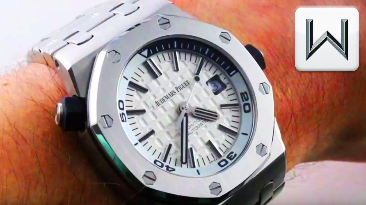 d1e2454cd31 Audemars Piguet Royal Oak Offshore Diver Full Bracelet 15710ST.OO.A002CA.02  Luxury Watch Review