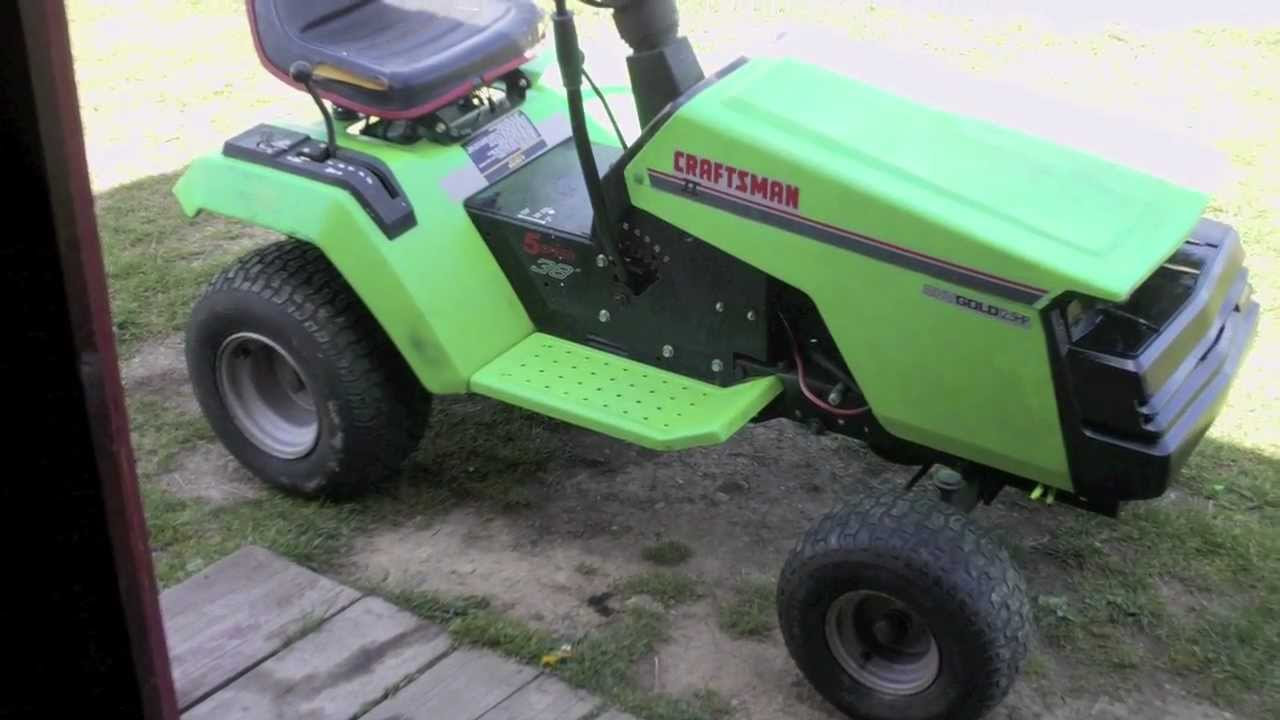 Tractor Mowing Painting : Craftsman lt paint job youtube