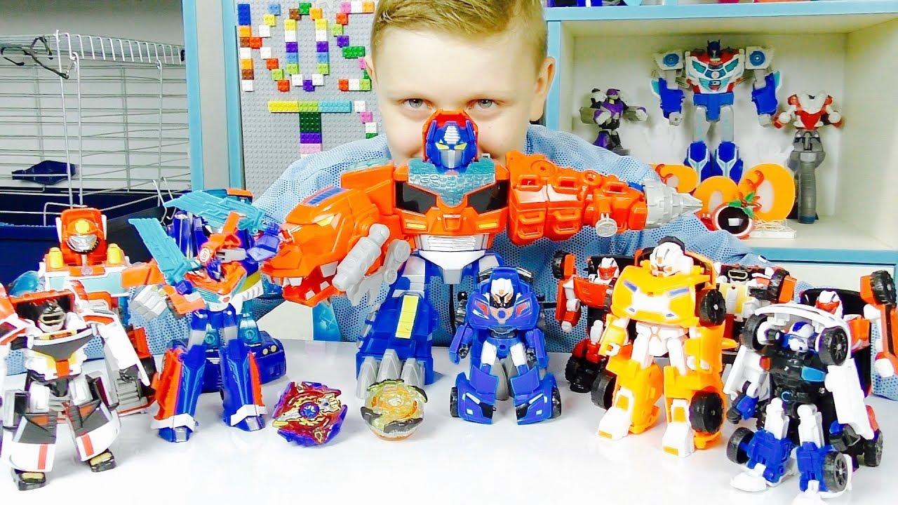 БЕЙБЛЭЙД Трансформеры против ТОБОТОВ Машинки Роботы из Мультика для мальчиков