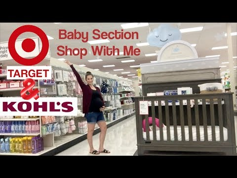 Shopping for Baby at Target & Kohls! Baby Section Shop With Me + Postpartum Needs!
