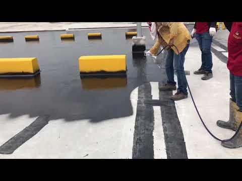 Airless pump paint spray Test