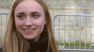 Chloé JOUANNET Lamy à Paris le 19 mars 2014 aux Champs-Elysées