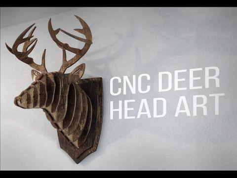 CNC Modern Deer Head Art
