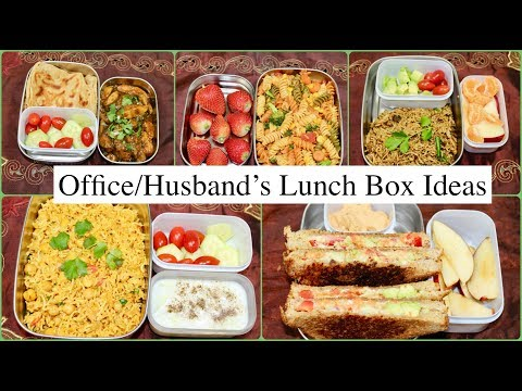 Husband's Lunch Box For A Week | Indian (Veg) Lunch Box Recipes For Office /Work
