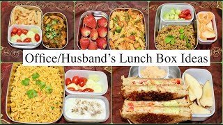Husband's Lunch Box For A week   Indian (Veg) Lunch Box Recipes For Office /Work
