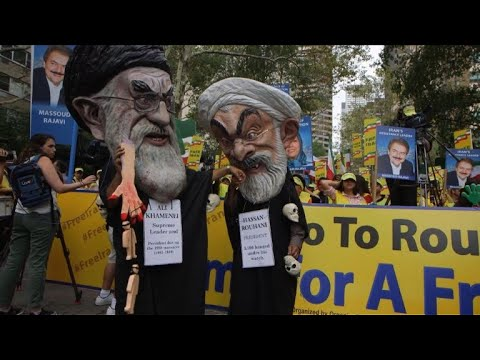 US: Hundreds protest against Rouhani, in New York for UNGA