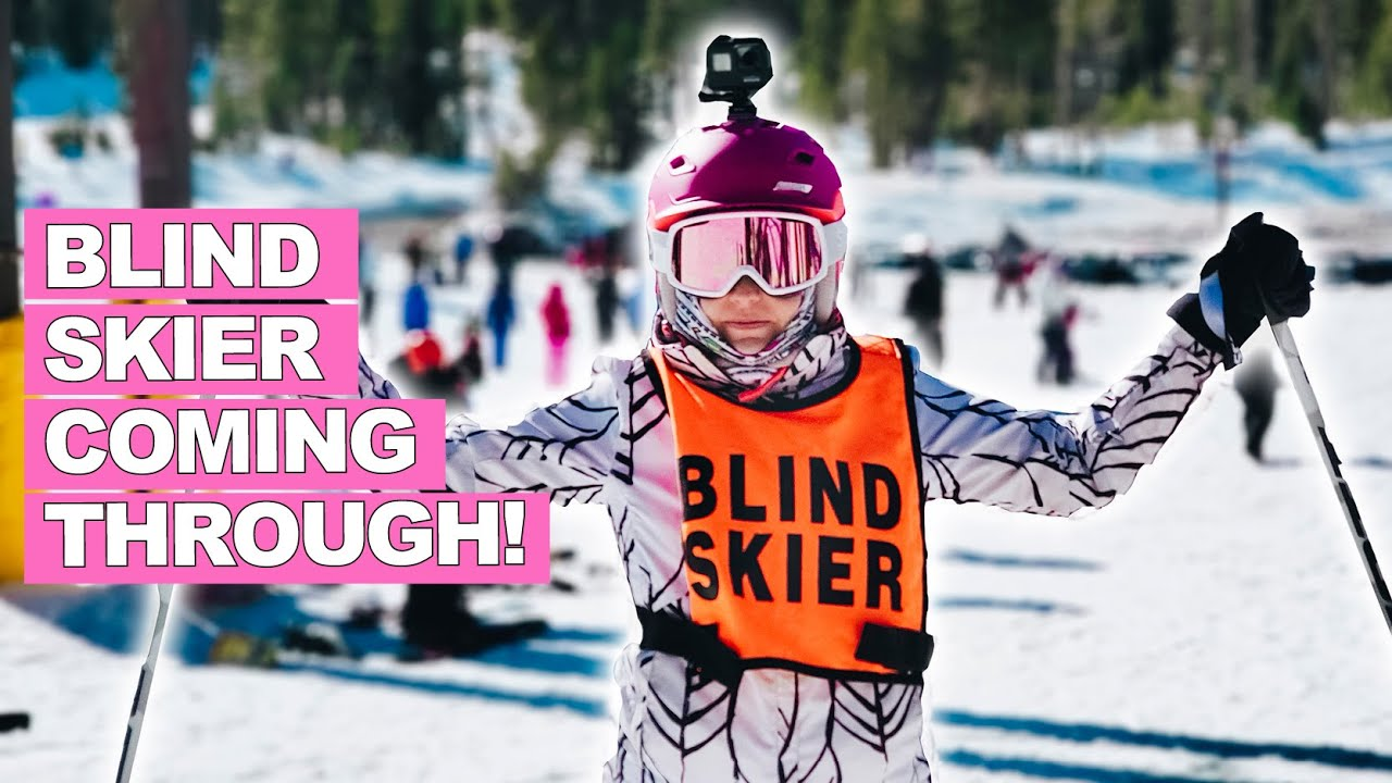 How I Ski As A Blind Woman! (live skiing footage)