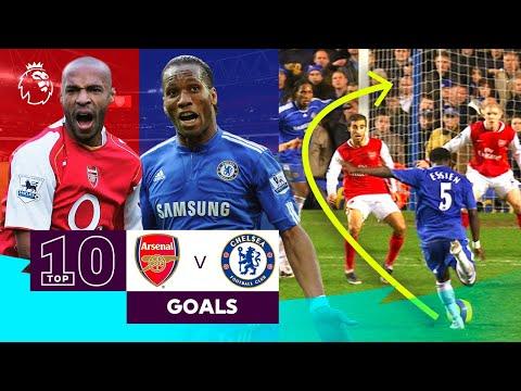 10 INCREDIBLE Arsenal vs Chelsea goals | Premier League
