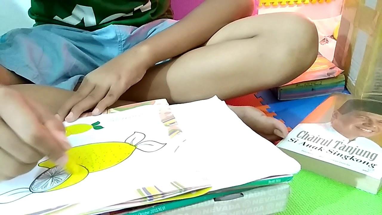 Mewarnai Untuk Anak Play Group Dan Tk Mewarnai Jeruk Lemon Belajar