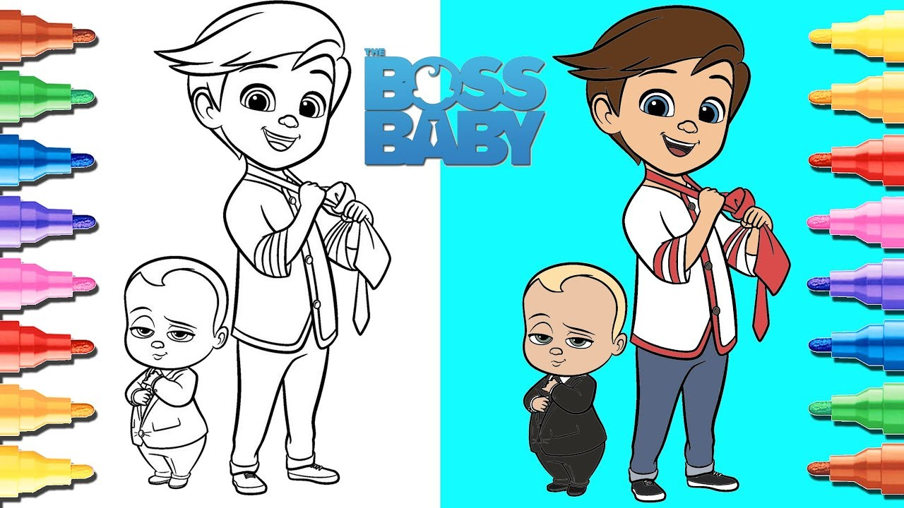 Boss Baby Coloring Video For Kids - YouTube