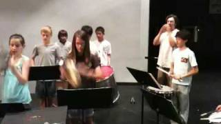 Plano Middle School Percussion Camp 2009 Samba Band 3