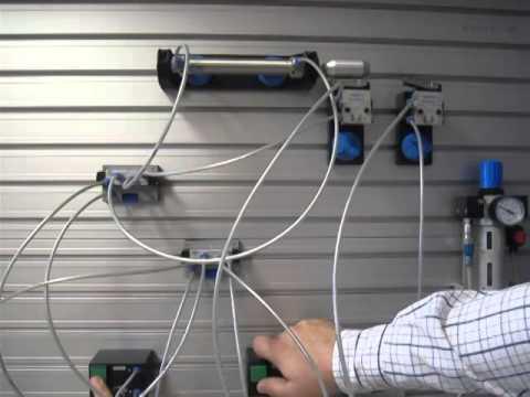 Circuito Neumatico Simple : Circuito neumático básico youtube