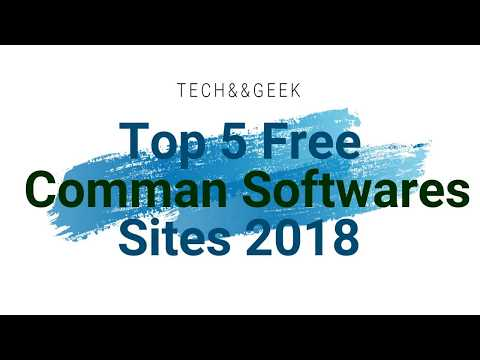 TOP 5 FREE COMMAN SOFTWARES DOWNLOAD SITES 2018