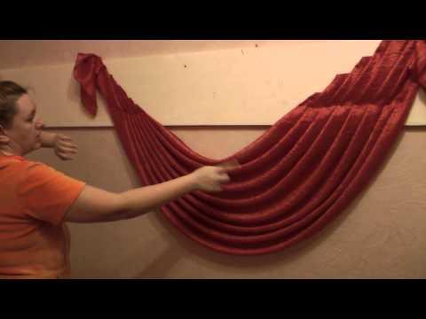 Ламбрекены своими руками - шьем простой ламбрекен к шторам для кухни или гостиной (кройка и шитье).