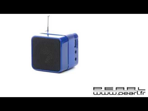 ZX1501 - Mini station MP3 avec radio, réveil et Bluetooth® ''MPS-560.cube'' - Bleu