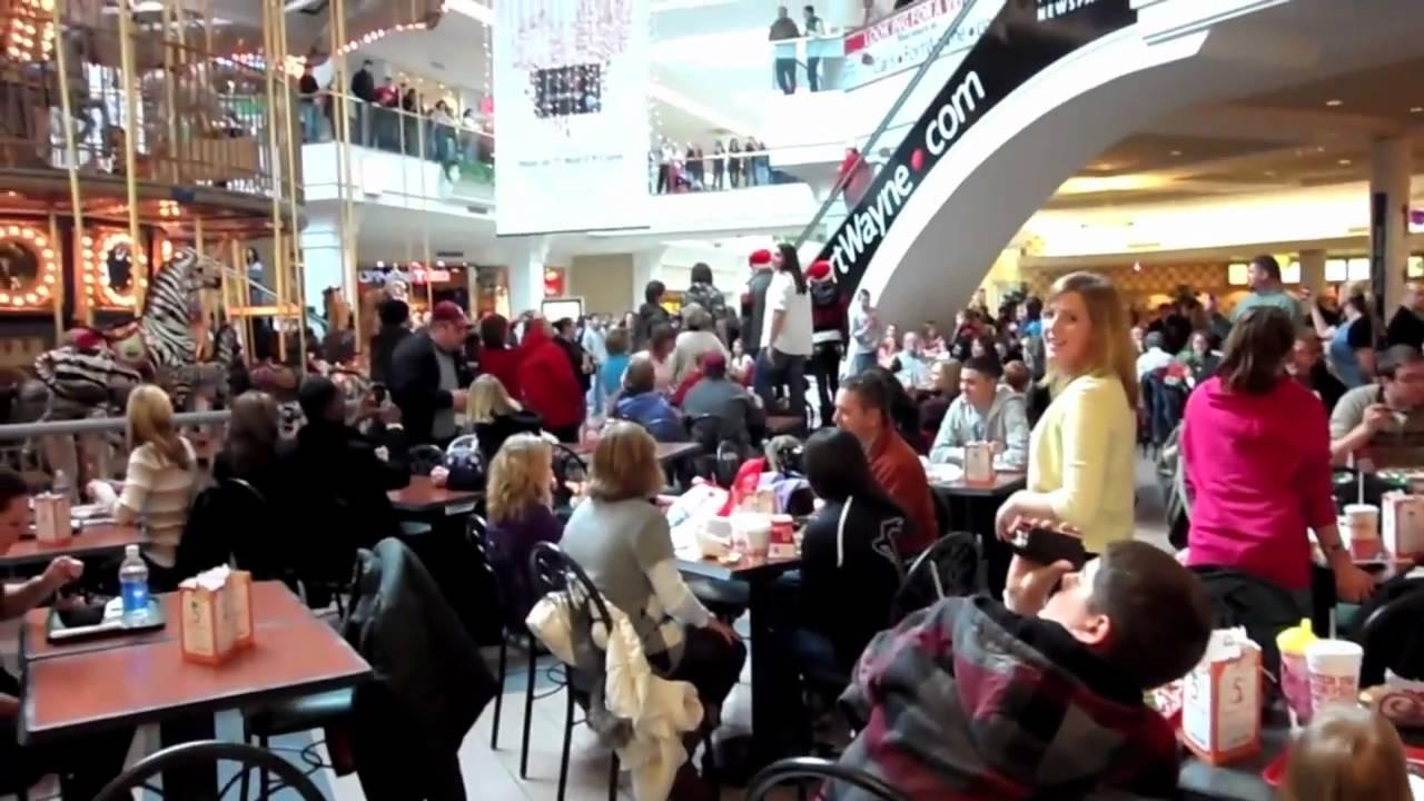 Fort Wayne Mall >> Glenbrook Mall Christmas Flash Mob - YouTube