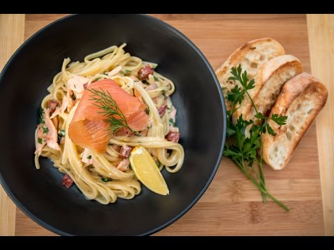Smoked Salmon Pasta With Whiskey Cream Recipe