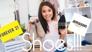 Fall Shoe Haul 2018 | Trendy and Affordable!| Amazon and Forever21